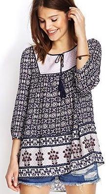 Forever21 folk blouse