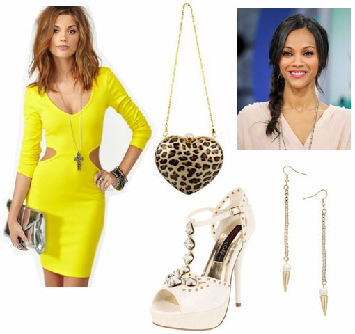 Formal look inspired by bright yellow 2012 emmy trend