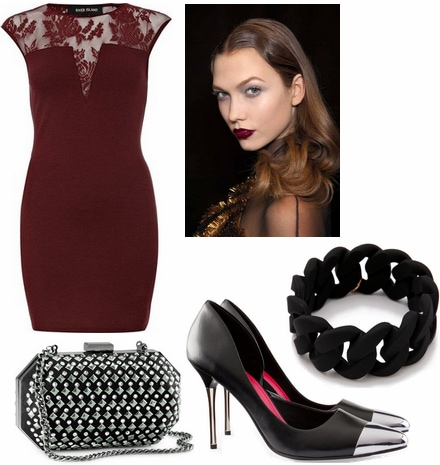 Formal look inspired by oxblood 2012 emmy trend
