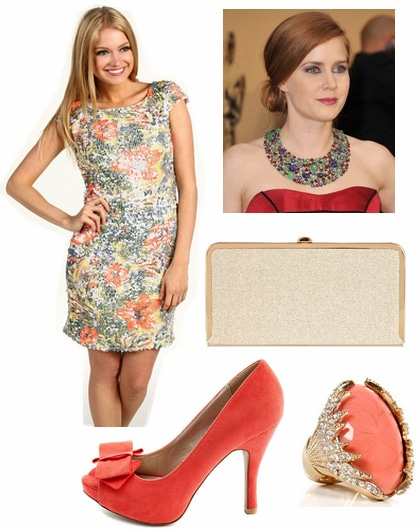 Formal look inspired by textured florals 2012 emmy trend