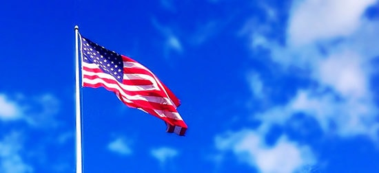 american flag header