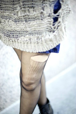 Frayed tights risd fashion