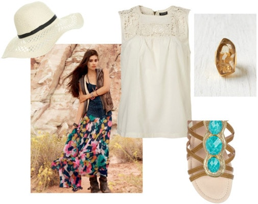 Outfit inspired by Doub Hanshaw and Free People