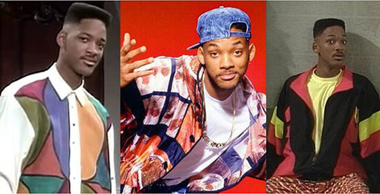 Will Smith's style on the Fresh Prince of Bel-Air