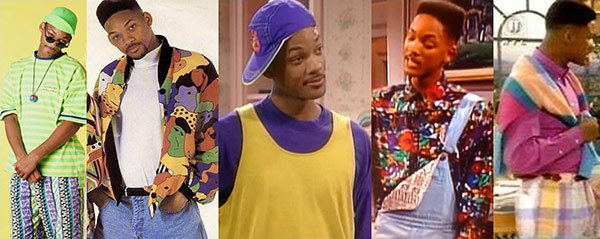 Will Smith's style on The Fresh Prince of Bel-Air: Promo pics and screencaps of the show
