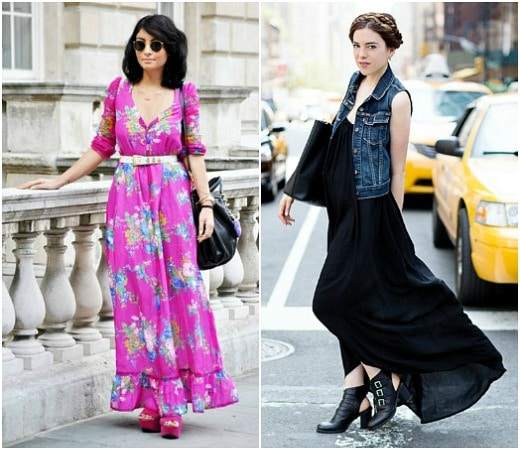 Fresh ways to wear a maxi dress