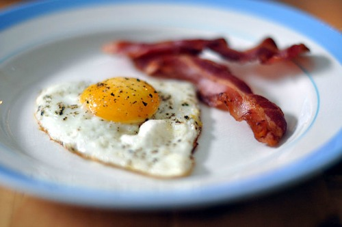 Fried egg and bacon