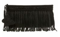 Fringe black clutch