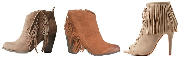 Budget friendly fringe booties