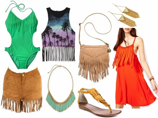 Fringe clothes and accessories