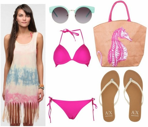 Fringe coverup outfit