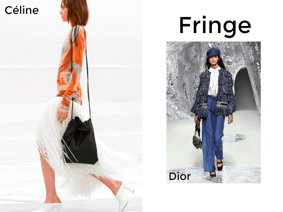 Céline and Dior Fringe Outfits