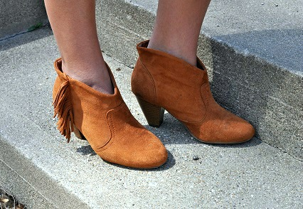 Fringed ankle bootie trend