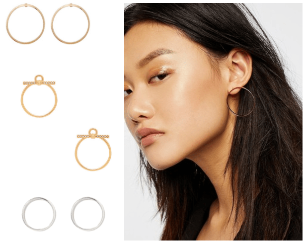 Minimalist jewelry trends: Front facing hoops