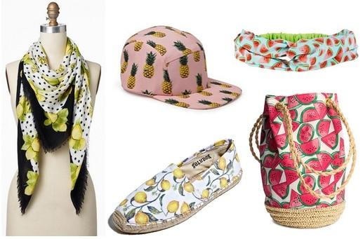 Fruit print accessories