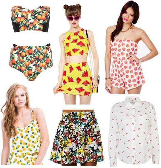 Fruit print clothing