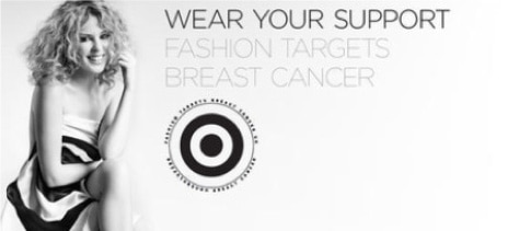 Kylie Minogue in an ad for Fashion Targets Breast Cancer