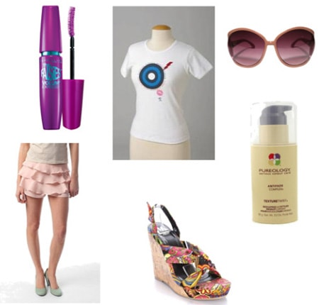 Fashion targets breast cancer tee shirt outfit