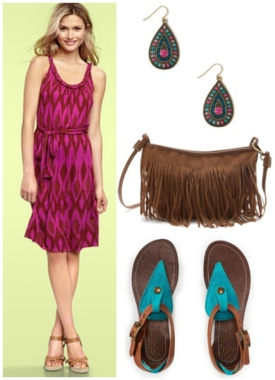 fuchsia-teal outfit 1
