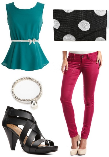 fuchsia-teal outfit 3