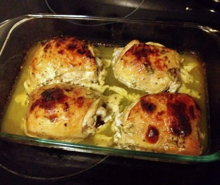 Fully cooked greek chicken