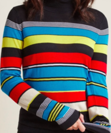 Want an easy print to start with? Try striped tops! There are great varieties.