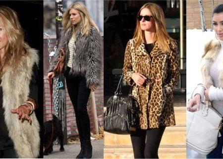 Celebrities rocking faux fur