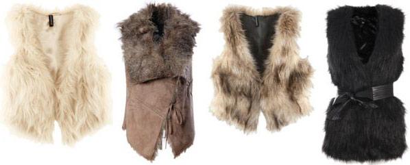 Faux fur vests