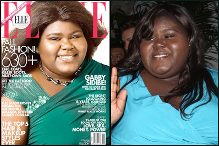 Gabourey Sidibe skin lightening controversy photo