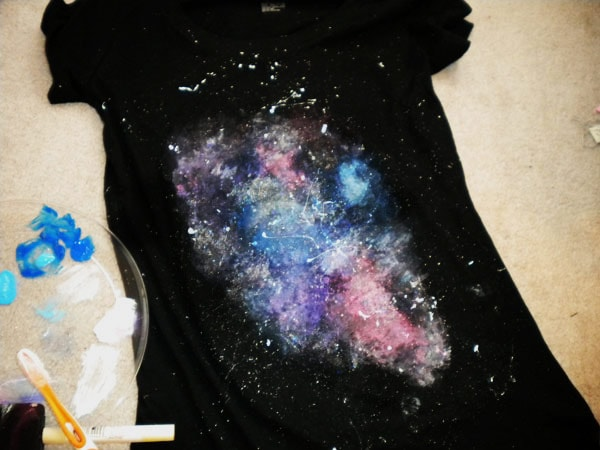 DIY galaxy print tee: Final step