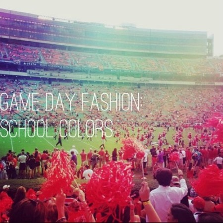 Game day fashion school colors