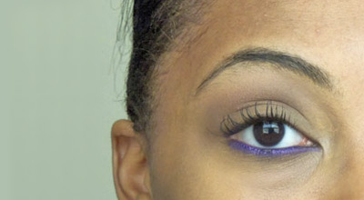 College Game Day / School Spirit makeup look 2 - Easy Bright Eyeliner