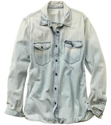 Gap faded denim shirt