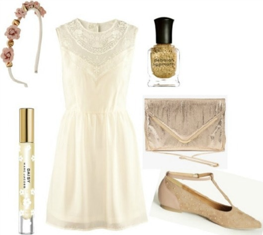 Gatsby gold outfit