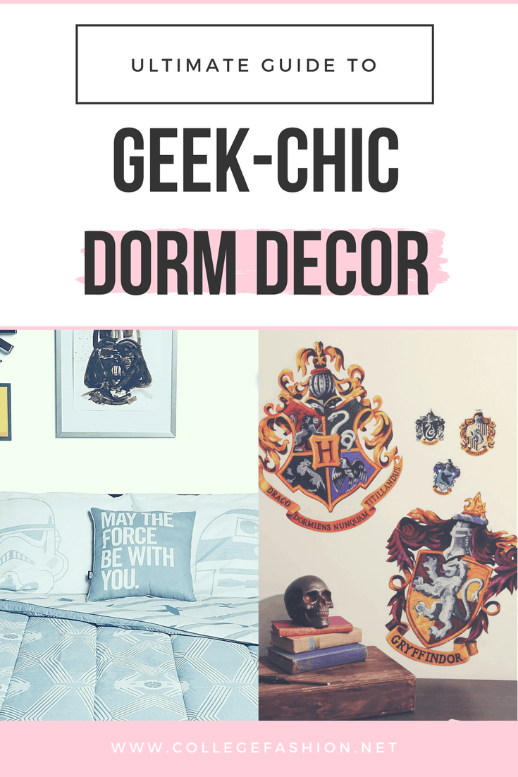 Geeky dorm decor: Star wars and harry potter decor for girls with fandoms