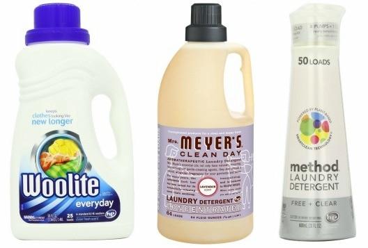 Gentle laundry detergents