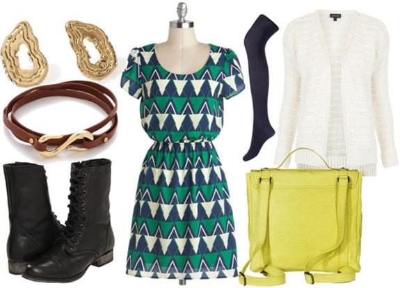 How to wear a geometric dress for daytime