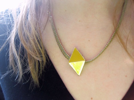Geometric necklace college jewelry trend