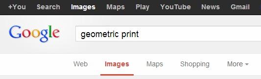 Geometric print search on google