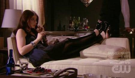 Georgina on Gossip Girl in Lame Leggings