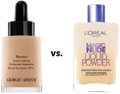 Georgio armani maestro vs l'oreal magic nude liquid powder