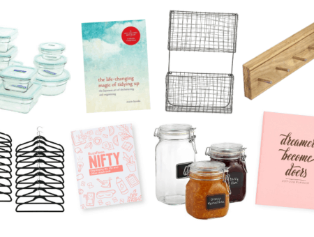 Glasslock food storage the Life Changing Magic of Tidying up by Marie Kondo letter storage key hook matching hangers PBTeen Nifty Organization journal sealed jars the Container store planner TJ Maxx