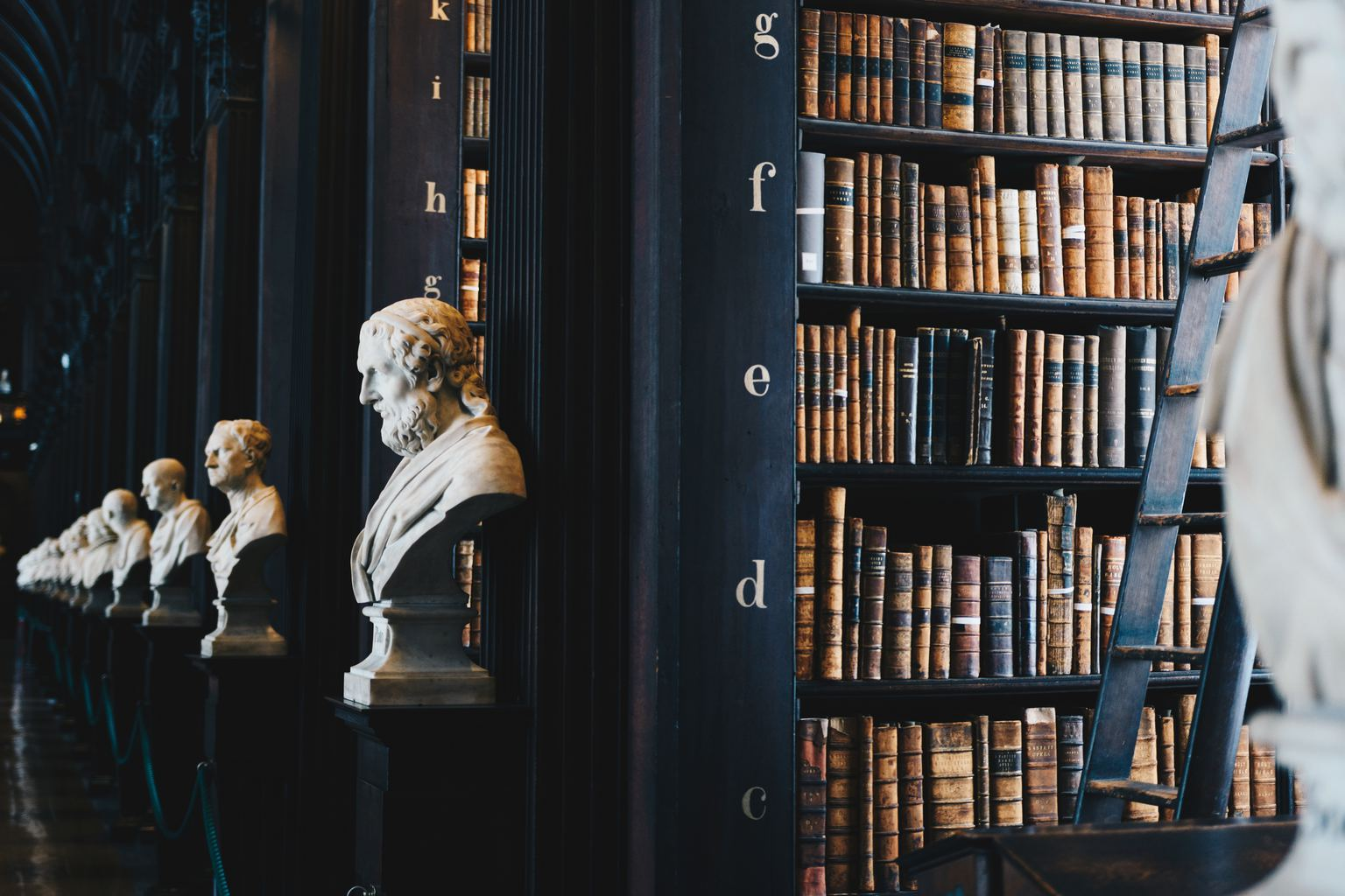 library busts figureheads poetry