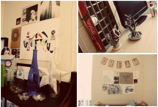 Pieces in Gillian's Dorm