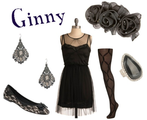 Outfit inspired by Ginny Weasley's style in Harry Potter and the Deathly Hallows Part 1