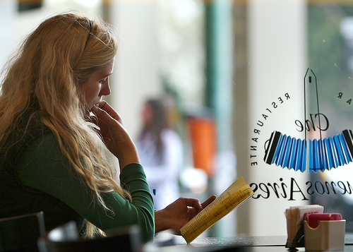 Girl at a cafe