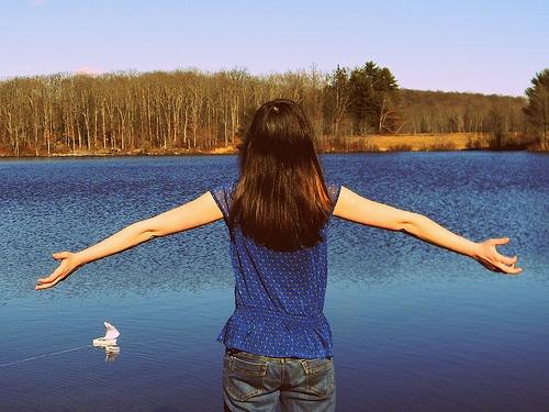 Spring break alternatives - girl at a lake