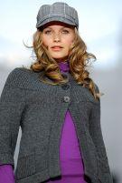 Model Wearing Purple