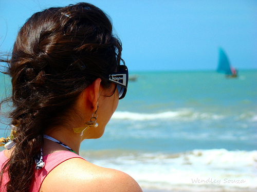 Girl looking out to the horizon