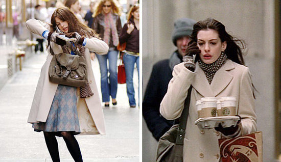Girl on the go - Anne Hathaway in Devil Wears Prada